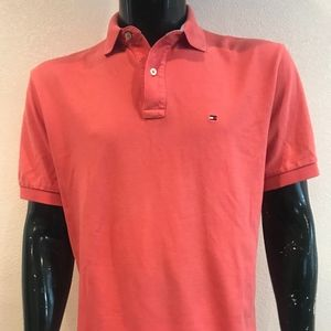Tommy Hilfiger Mens Pink Polo